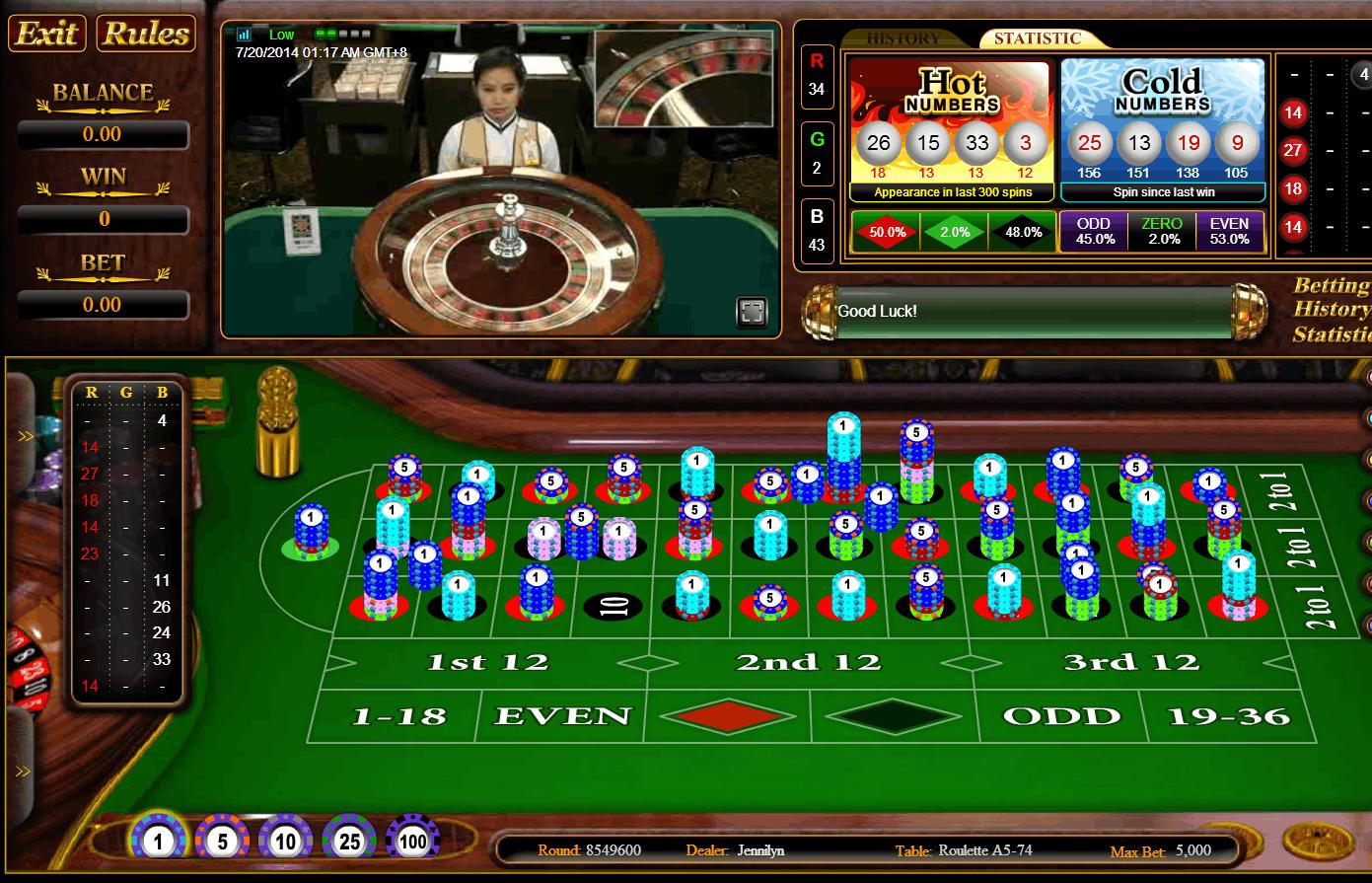 live roulette sbobet casino