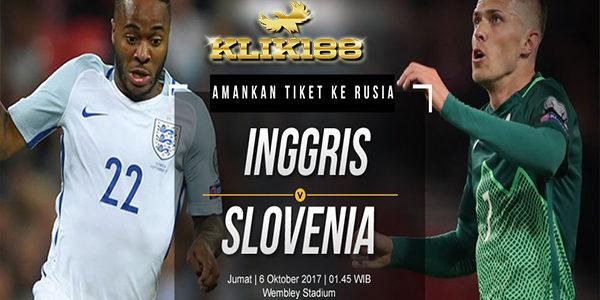 Prediksi Bola Inggris vs Slovenia 06 Oktober 2017